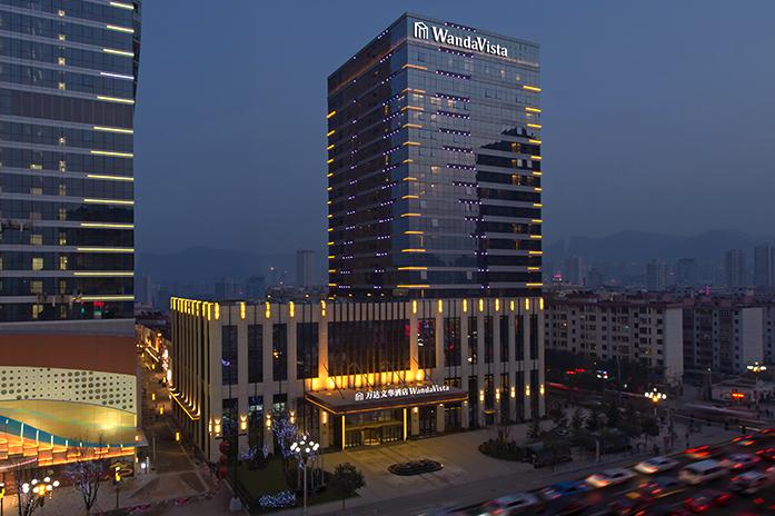 兰州富力万达文华酒店酒店夜景