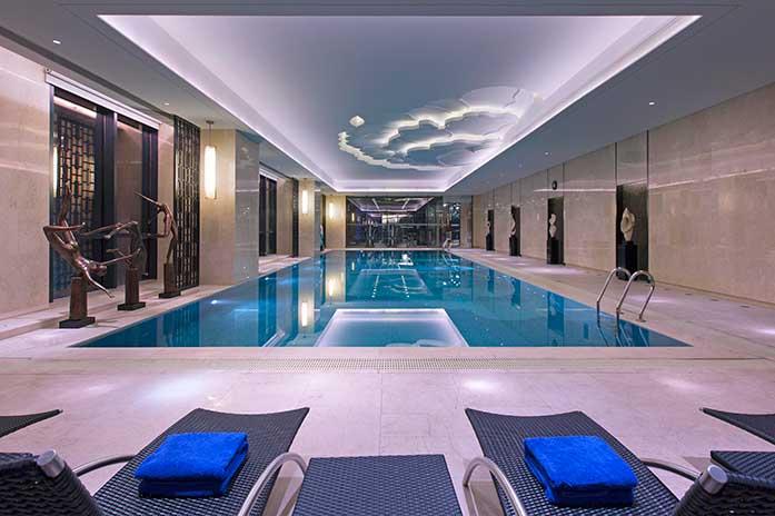 长沙万达文华酒店游泳池