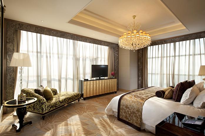 廊坊万达嘉华酒店总统套房卧室