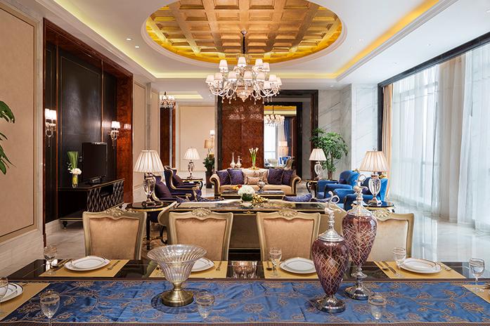 南昌万达嘉华酒店总统套房客厅