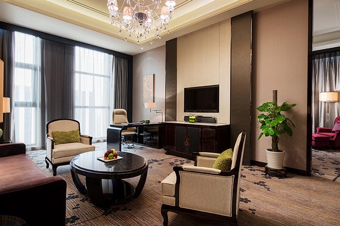 南京万达嘉华酒店豪华套房客厅