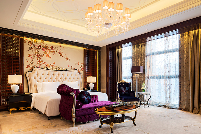 南京万达嘉华酒店总统套房卧室