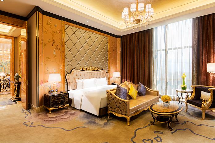 龙岩万达嘉华酒店总统套房卧室